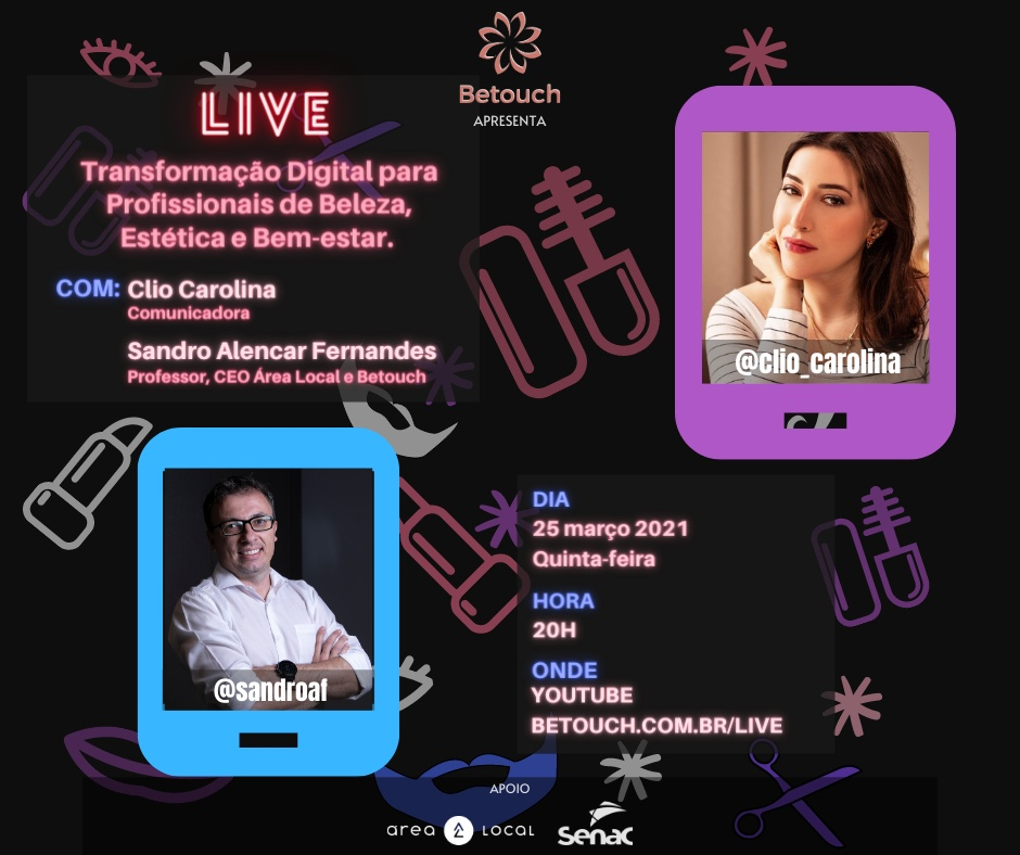 LIVE – Transformação Digital para profissionais de Beleza, Estética e Bem-estar.