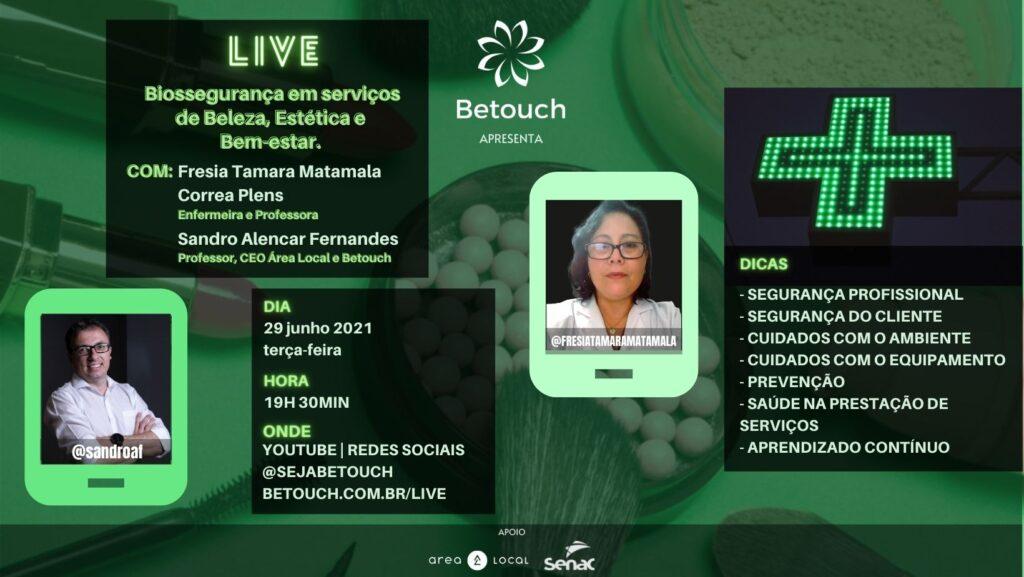 LIVE – Biossegurança em serviços de Beleza, Estética e Bem-estar.